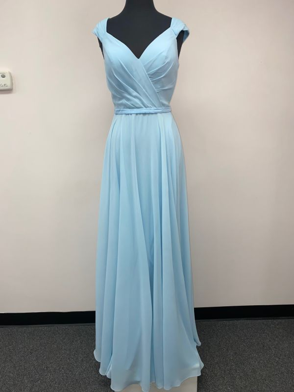 Kanali K Size 10 1812 Ice Blue Bridesmaid Dress