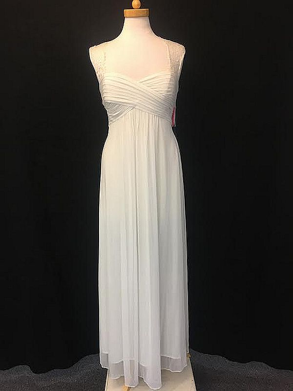 Eva Size 2X 3073 Off White Bridesmaid Dress