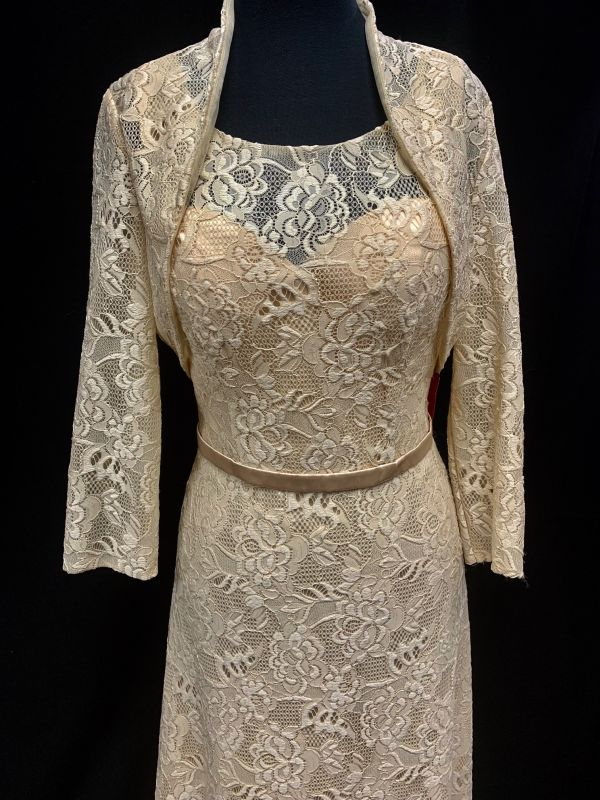 Let's Size M 7053 Champagne Mother of Bride Dress