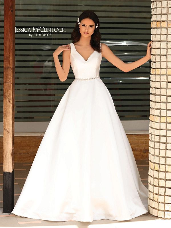 Jessica McClintock Size 14 700155 Ivory Gown