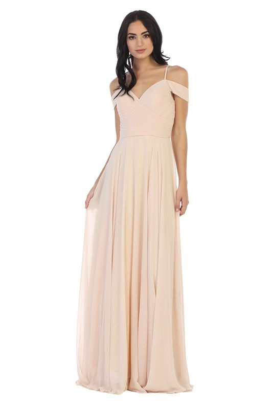 Eva Size M 5183 Champagne Bridesmaid Dress