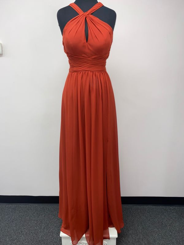 Kanali K Size 8 1833 Rust Bridesmaid Dress