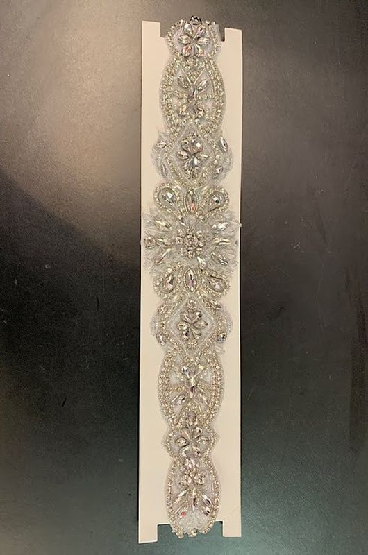 Ivory Rhinestone 12 in 60718 Belt