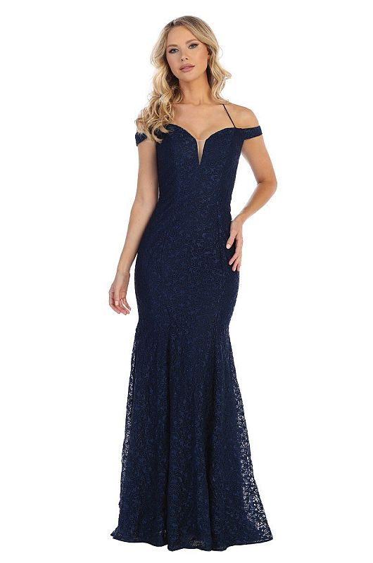 Let's Size XL 7312 Navy Mother of Bride Dress