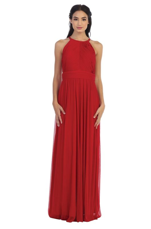 Cindy Collection Size M 1395 Red Bridesmaid Dress