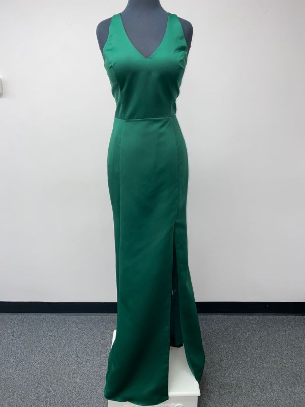 Kanali K Size 14 1804 Hunter Green Bridesmaid Dress