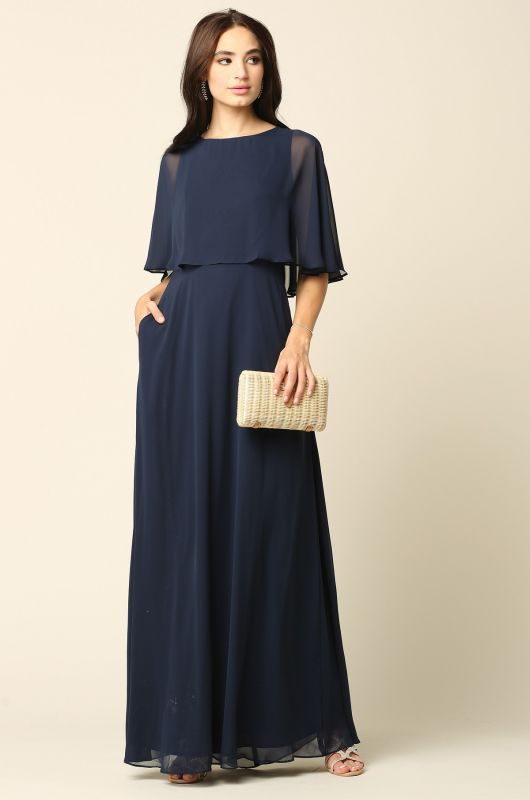 Eva Size 4XL 3348 Navy Mother of Bride Dress