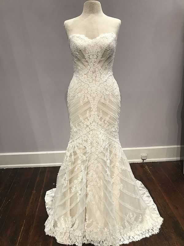 Matthew Christopher Size 4 Sofia Champagne Gown