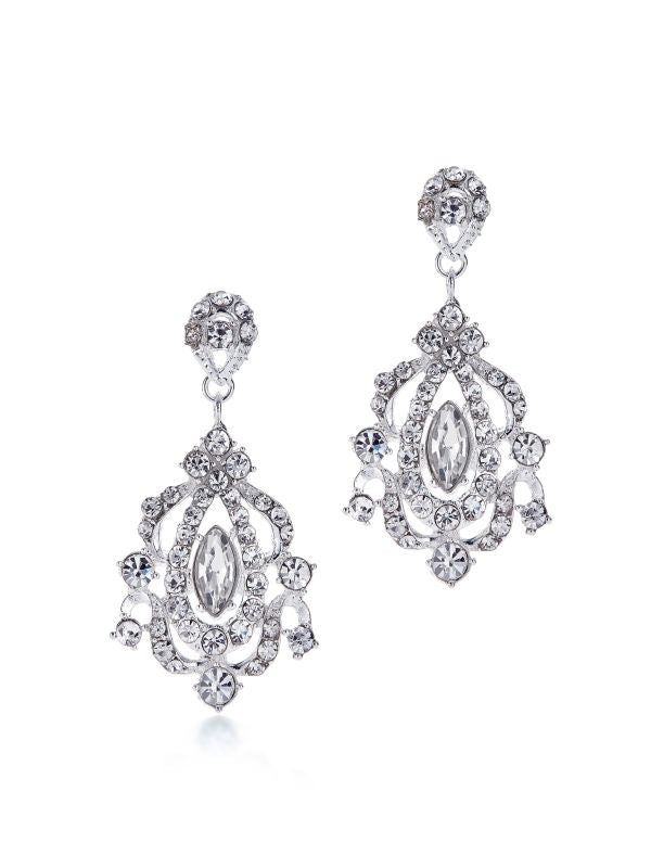 12562 Silver Crystal Earrings