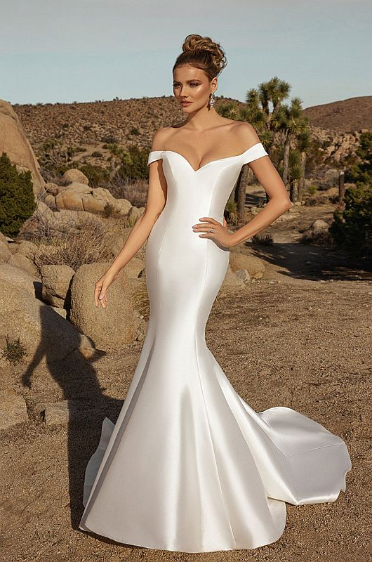Ivoire Size 12 Katella Diamond White Gown