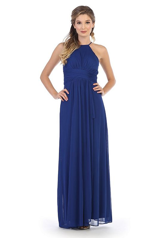 Eva Size L 3282 Royal Bridesmaid Dress