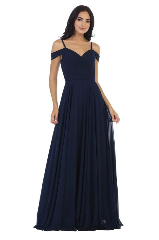 Eva Size 2X 5183 Navy Bridesmaid Dress