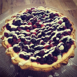 White Chocolate Cranberry Cheesecake Tart