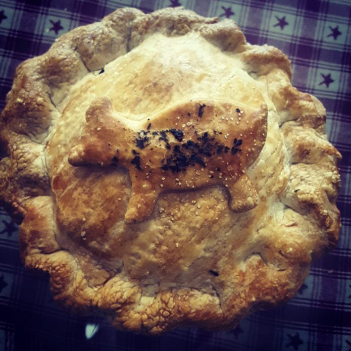 Cider-Glazed Pork & Apple Pie