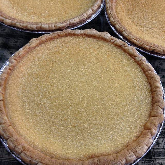 Vanilla Buttermilk Custard Pie