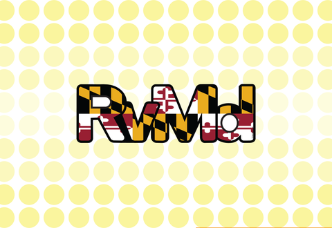 RvMd Flag Sticker<br> City of Rockville, Md<br> Md Flag
