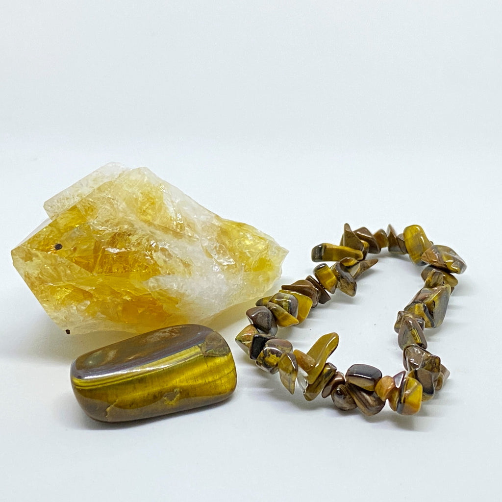 Citrine + Tiger's Eye