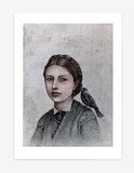 Caroline & staren / Caroline & the  starling – Fine art print