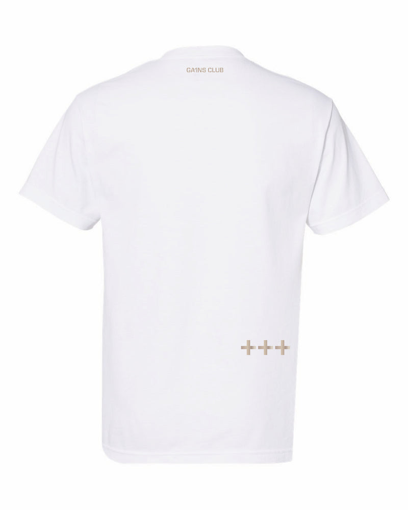 MJ Gains Rose Gold Tee (Heavyweight)