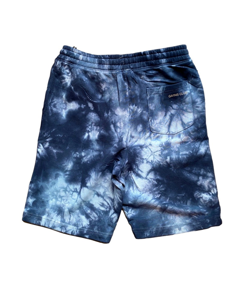 Men's Navy Tie Dye Fleece Short