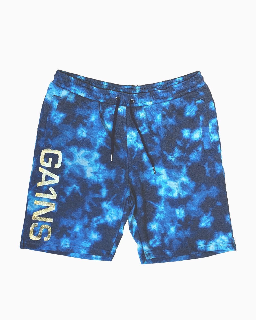 Men's Aqua Tie Dye French Terry Short