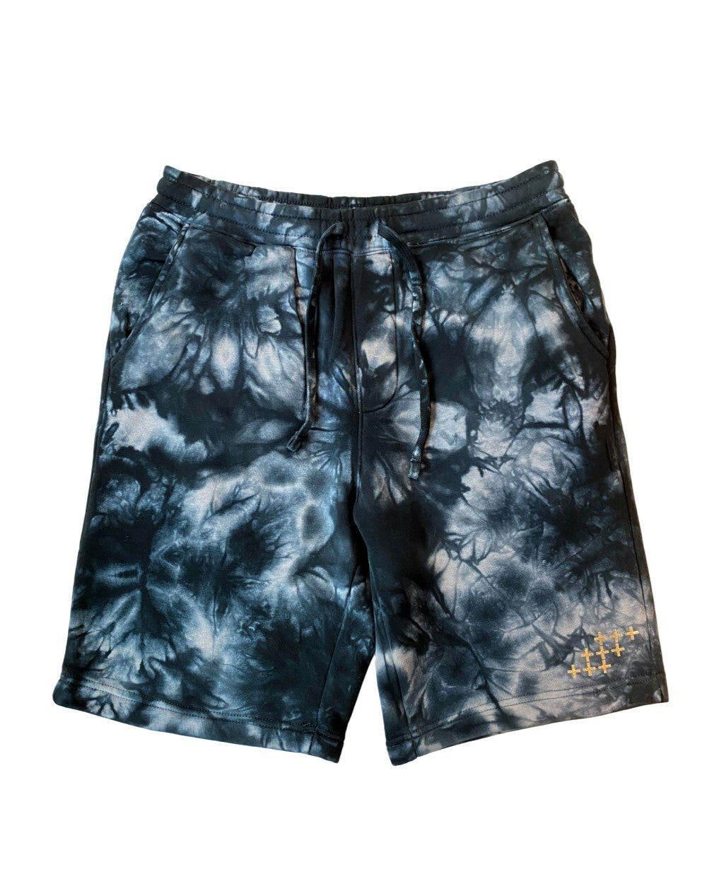 Men's Black Tie Dye Fleece Short