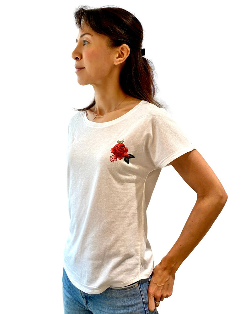 Women's Dolman Rose Tee