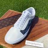 Custom Denim Gucci  Classic Vans - Leather White
