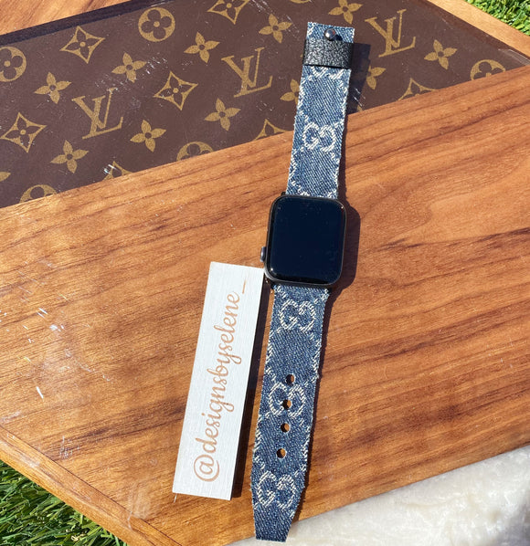 Authentic Repurposed Denim Gucci Apple Or Samsung Watch Bands