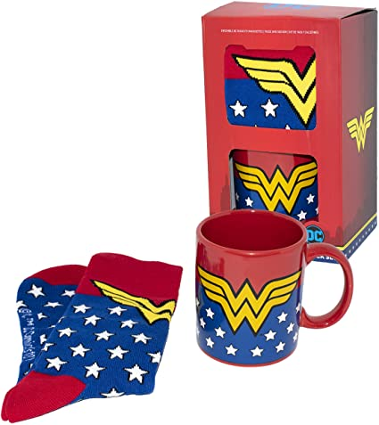 Set Wonder Woman - Taza y Calcetines Talla 35.5/41