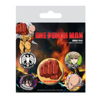 Juego de chapas One Punch Man Destructivo
