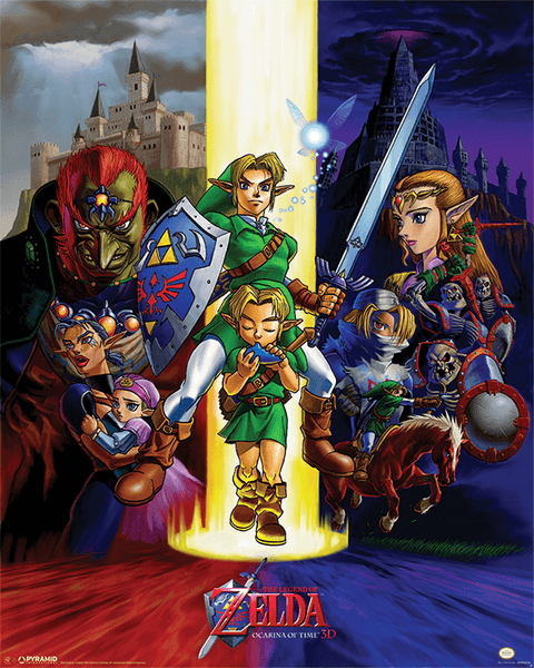 Póster plastificado The legend of zelda - Ocarina of Time