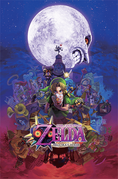 Póster plastificado The legend of zelda - Majora's Mask