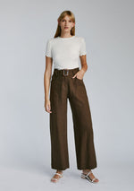 Olivia Trousers - Chocolate Linen