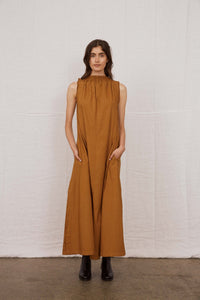 Proof Poplin Column Dress - Earth