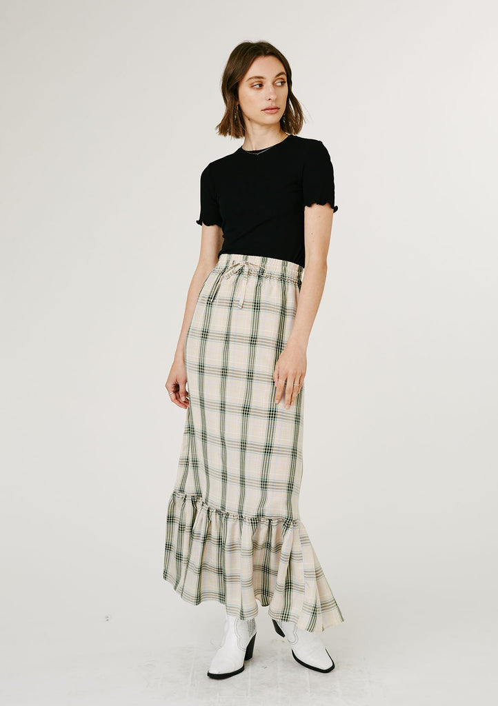 Rommy Skirt - Green Check