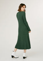 Spencer Knitted Dress - Speckled Green