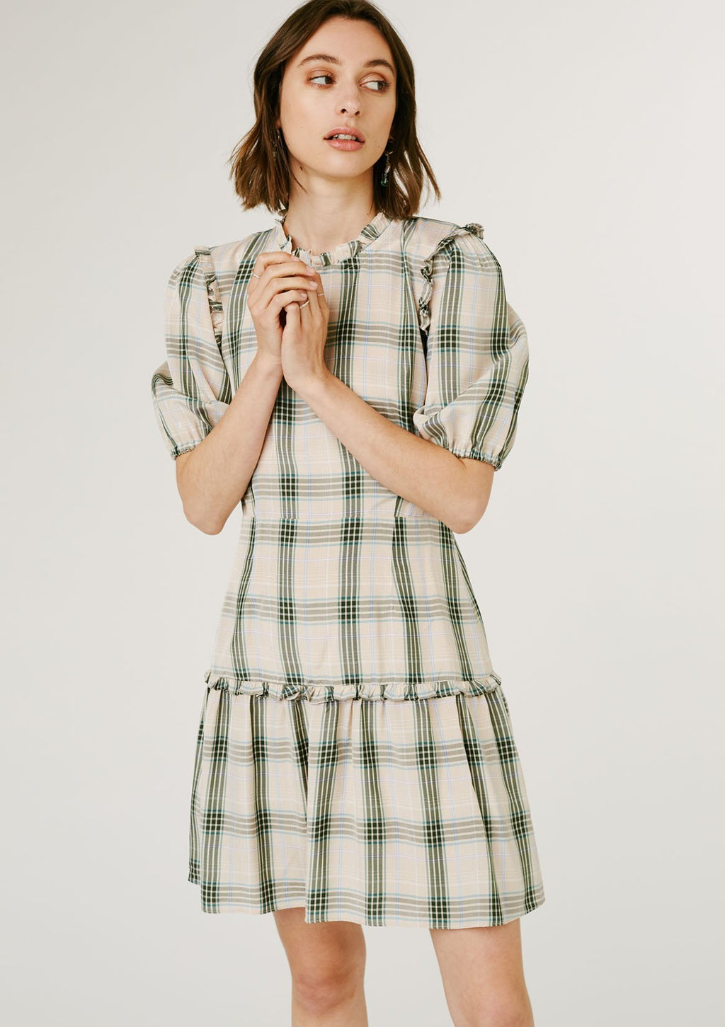 Daniella Dress - Green Check