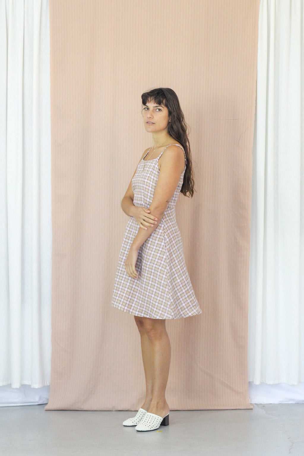 Juliette Dress - Thistle Gingham