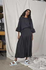 Fold Drop Skirt - Black