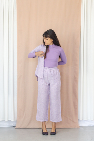 Grace Trousers - Lilac Stripe