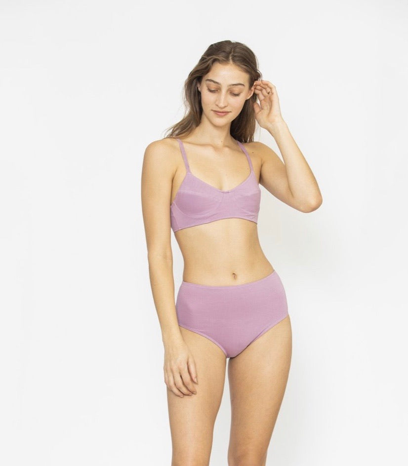 Full Cup Wire Free Bra - Lilac