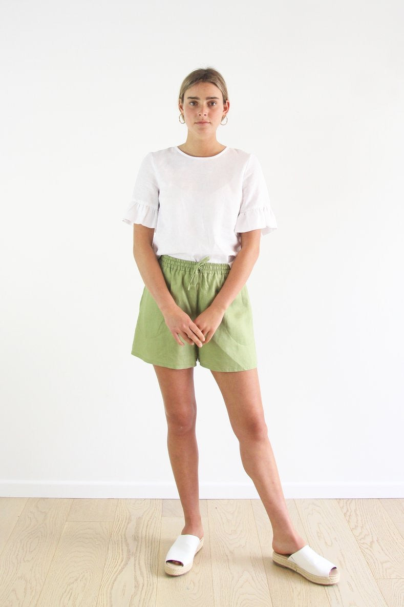 Evie Shorts - Fern