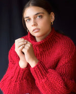 Big Knit Jumper - Ruby