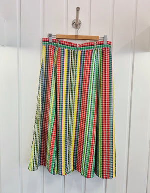70's Primary Check Skirt