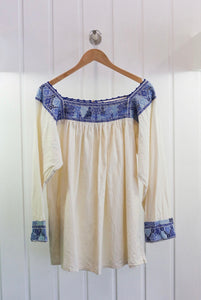 1970's Peasant Cotton Smock