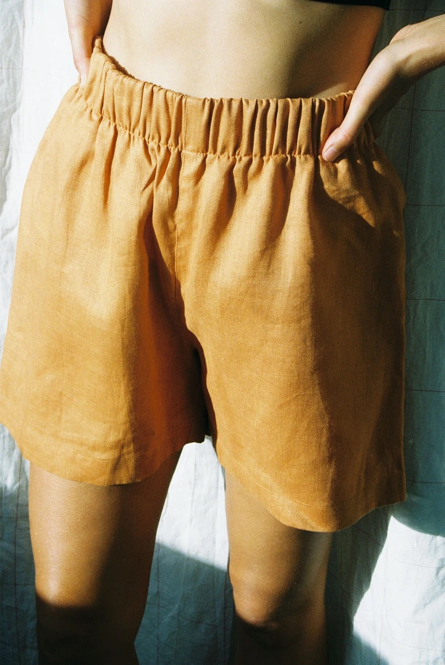 Scrunchie Shorts - Orange