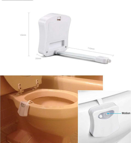 Motion Sensor Toilet LED