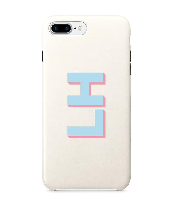 White PU Leather Printed Phone Case