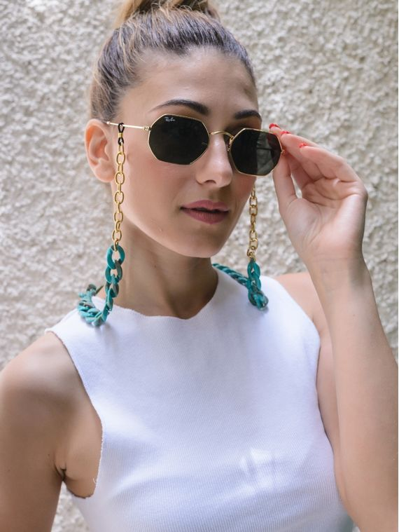 Gold / Turquoise Sunglass Chains